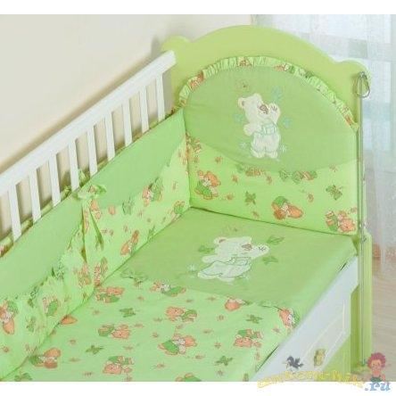 Комплект в кроватку 7 пр. Сдобина 25.4 - купить за 3870 руб.